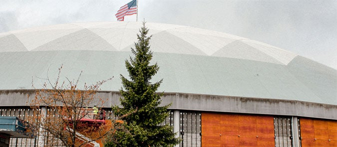 More Info for Tacoma Dome Exterior Renovations Underway
