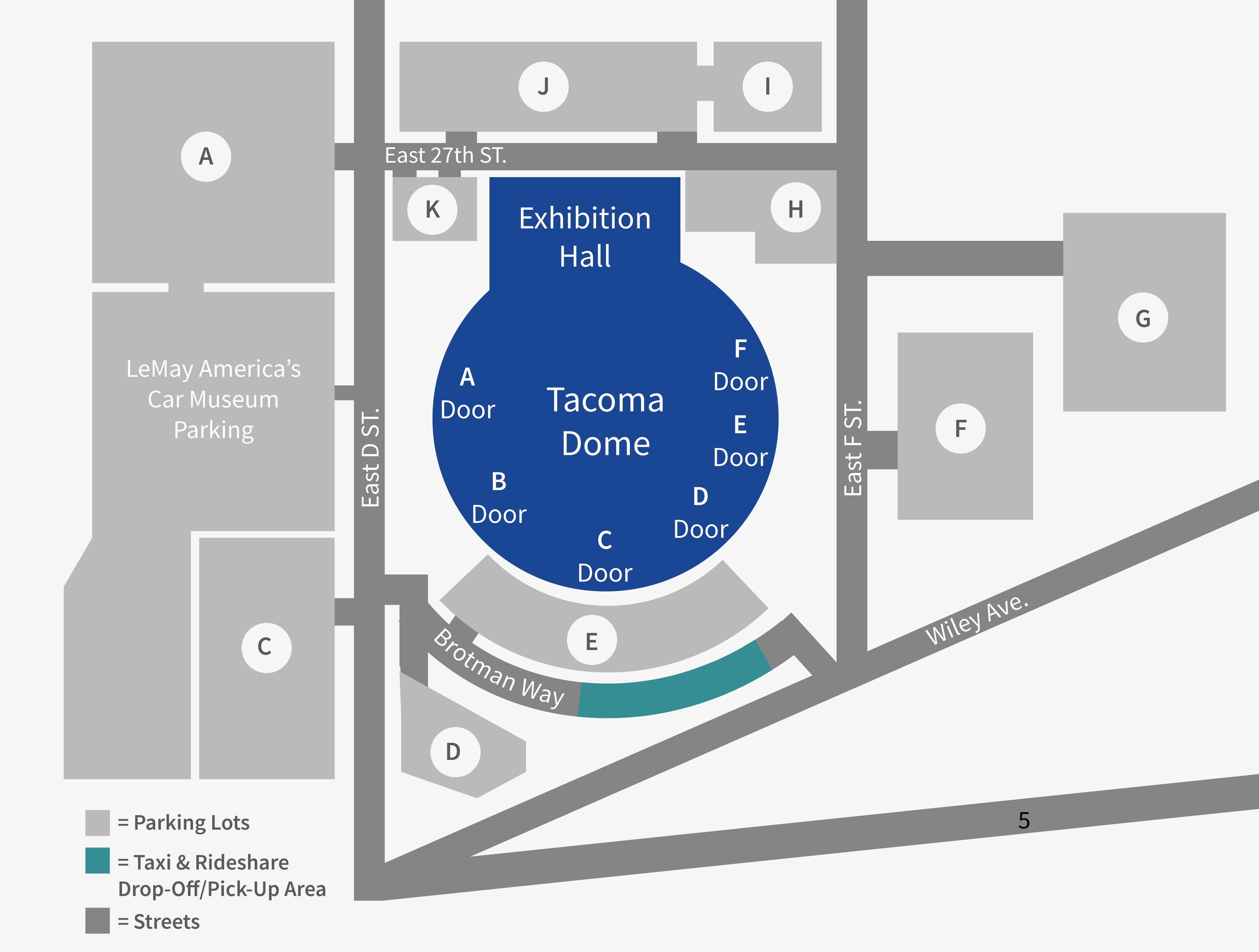 429ce7e0b8 Tacoma Dome Parking Map